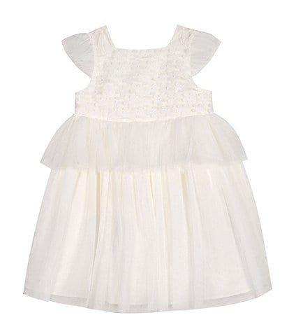 Pippa & Julie Little Girls 2T-8 Flutter-Sleeve Fit-And-Flare Dress