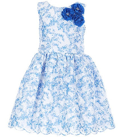 Pippa & Julie Little/Big Girls 2T-8 Floral-Printed Fit-And-Flare Dress