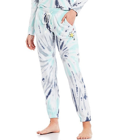 PJ Salvage Daydreams Doodles #double;Be Kind#double; Tie Dye Jogger Sleep Pants