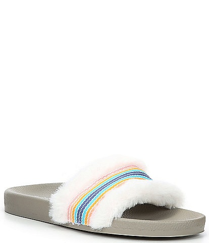 PJ Salvage Faux Fur Fuzzy Feet Slippers