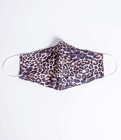 PJ Salvage Leopard Print Knit Non-Medical Cloth Face Mask