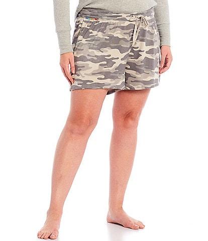 PJ Salvage Plus Camo Cool Printed Beach Terry Knit Sleep Shorts
