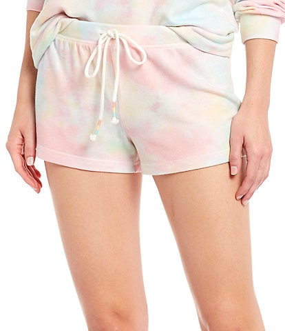 PJ Salvage Rainbow Tie-Dye Print Jersey Sleep Shorts