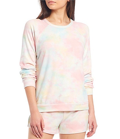 PJ Salvage Rainbow Tie-Dye Printed Jersey Sleep Top