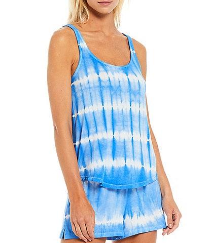 PJ Salvage Sail Away Tie-Dye Jersey Knit Sleep Tank