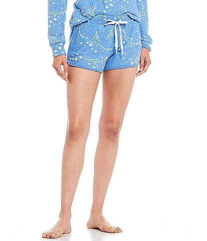 PJ Salvage Star Printed Peachy Jersey Knit Sleep Shorts