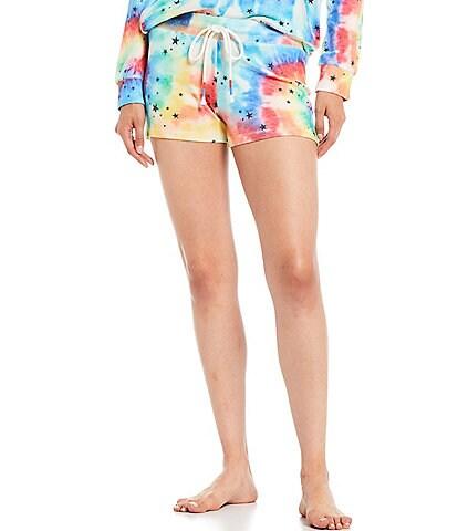 PJ Salvage Stardust Tie-Dye Print Peachy Jersey Knit Sleep Shorts