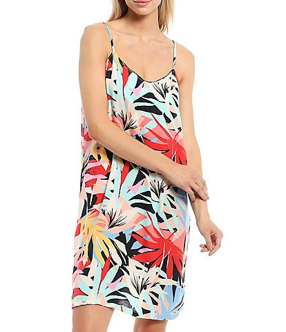Pj Salvage Tropical Staycation Print Modal Long Chemise