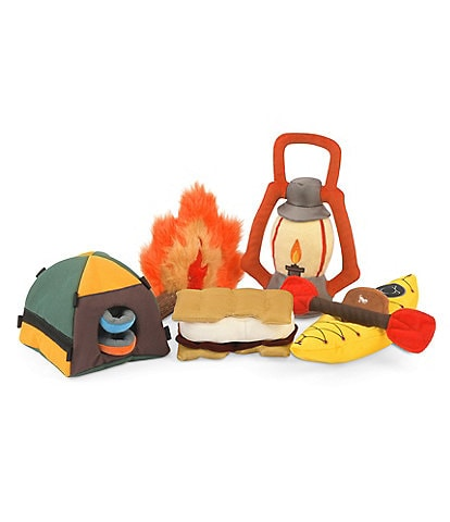 PLAY Pet Lifestyle and You Camp Corbin Toy Set, 5-Piece Plush Dog Toys