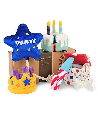 PLAY Pet Lifestyle and You Party Time Toy Set, 5-Piece Plush Dog Toys