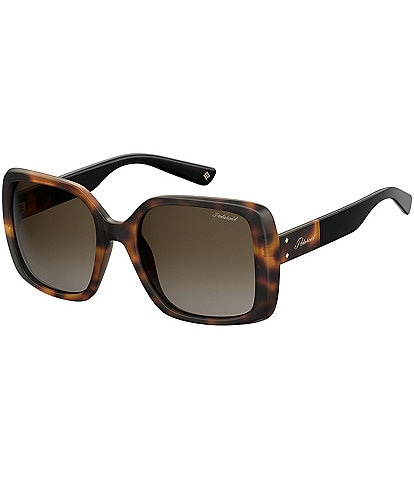 Polaroid Polarized Square Glam Gradient Lens Sunglasses