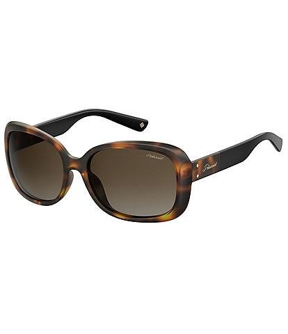 Polaroid Rectangular Polarized Sunglasses