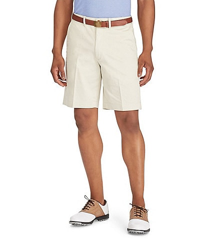 Polo Golf Classic-Fit Flat-Front 10#double; Inseam Stretch Twill Shorts