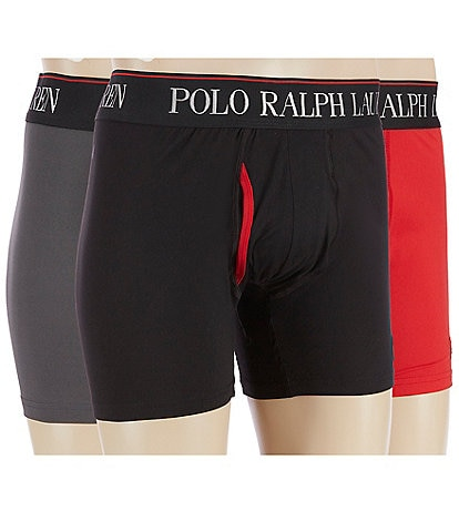 Polo Ralph Lauren 4D-Flex Cool Microfiber 3-Pack Boxer Briefs