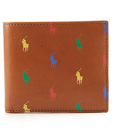 Polo Ralph Lauren Allover Pony Leather Billfold Wallet