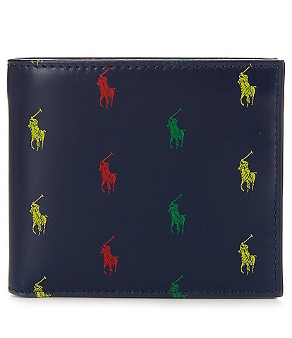 Polo Ralph Lauren Allover Pony Leather Wallet