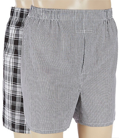 Polo Ralph Lauren Big & Tall Bengal Stripe & Stockton Plaid Woven Boxers 2-Pack
