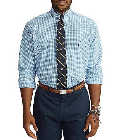 Polo Ralph Lauren Big & Tall Check Poplin Stretch Long-Sleeve Woven Shirt