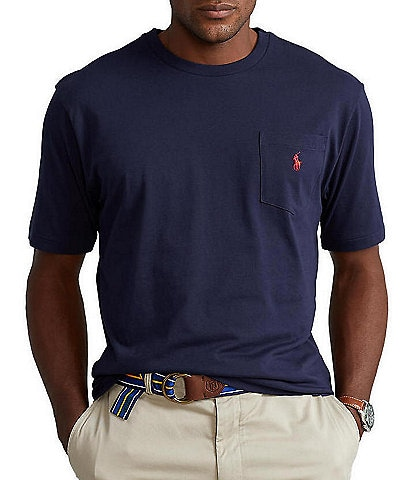 Polo Ralph Lauren Big & Tall Classic-Fit Jersey Pocket Crewneck Tee