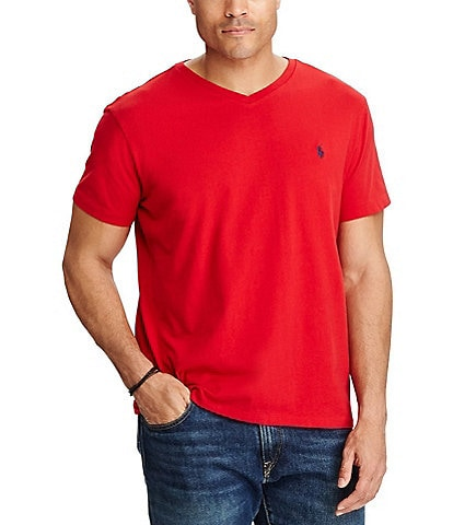38fa36d7 Polo Ralph Lauren Big & Tall Classic-Fit Short-Sleeve Cotton Jersey V-