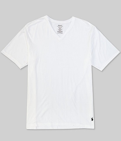 Polo Ralph Lauren Big & Tall Classic Stretch V-Neck T-Shirts 3-Pack