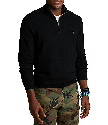 Polo Ralph Lauren Big & Tall Cotton Half-Zip Sweater