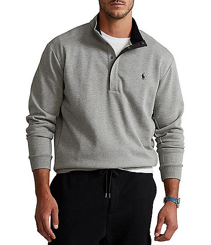 Polo Ralph Lauren Big & Tall Double-Knit Mockneck Pullover