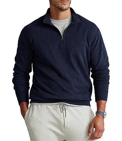 Polo Ralph Lauren Big & Tall Double-Knit Quarter-Zip Pullover