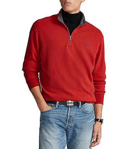 Polo Ralph Lauren Big & Tall Jersey Quarter-Zip Pullover
