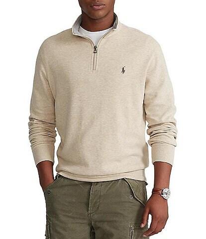 Polo Ralph Lauren Big & Tall Jersey Quarter-Zip Pullover