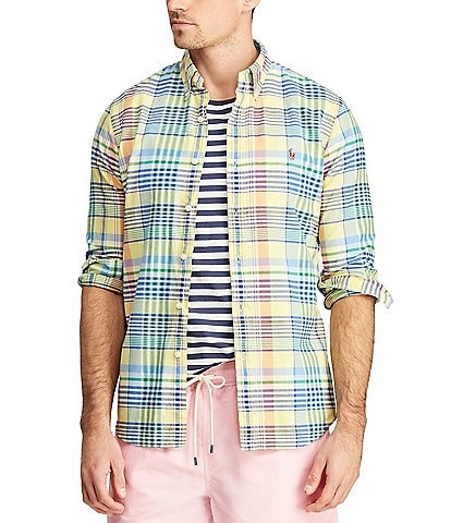 Polo Ralph Lauren Big & Tall Large Plaid Oxford Long-Sleeve Woven Shirt