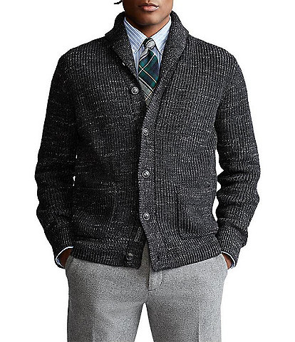 Polo Ralph Lauren Big & Tall Long-Sleeve Cotton Shawl-Collar Cardigan