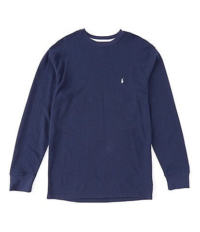 Polo Ralph Lauren Big & Tall Midweight Long Sleeve Waffle Crewneck Top
