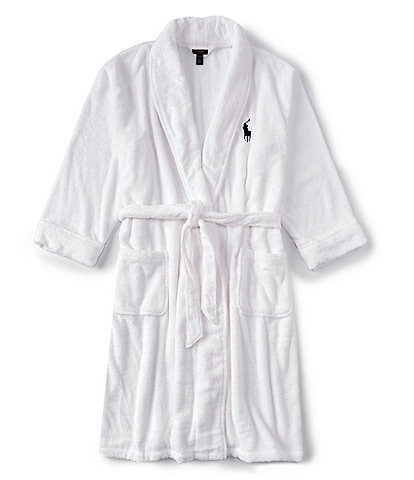 Polo Ralph Lauren Big & Tall Solid Shawl Terry Robe