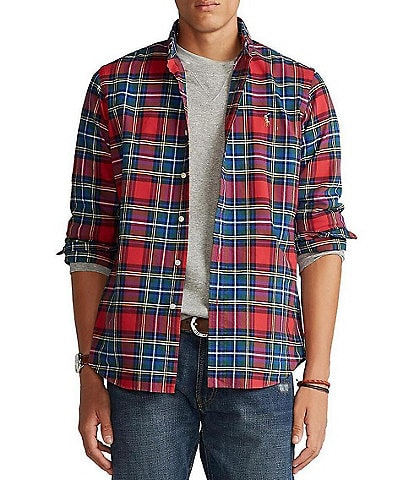 Polo Ralph Lauren Big & Tall Tartan Oxford Long-Sleeve Woven Shirt