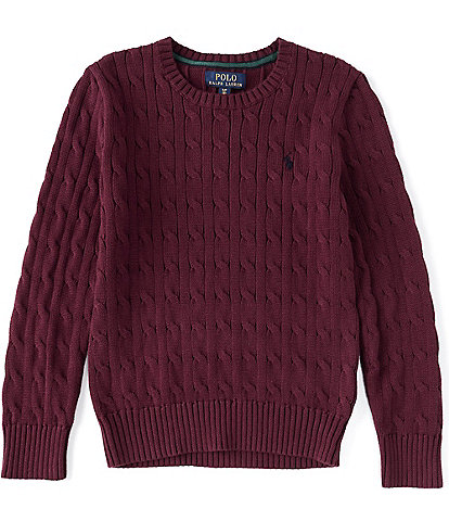 Polo Ralph Lauren Big Boys 8-20 Cable-Knit Sweater