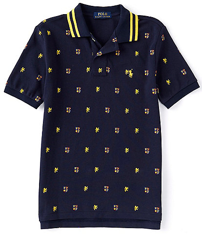 Polo Ralph Lauren Big Boys 8-20 Crest Print Short Sleeve Mesh Polo Shirt