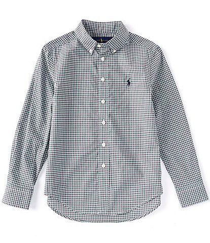 Polo Ralph Lauren Big Boys 8-20 Long-Sleeve Check Plaid Poplin Shirt