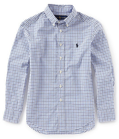 Polo Ralph Lauren Big Boys 8-20 Long-Sleeve Checked Poplin Shirt