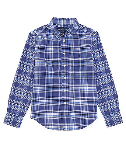 Polo Ralph Lauren Big Boys 8-20 Long-Sleeve Plaid Performance Poplin Shirt