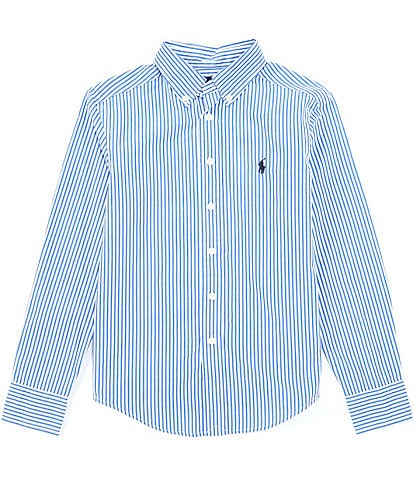 Polo Ralph Lauren Big Boys 8-20 Long-Sleeve Striped Poplin Shirt
