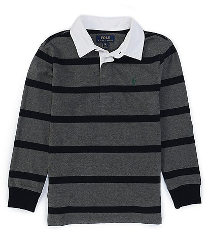 Polo Ralph Lauren Big Boys 8-20 Long-Sleeve Striped Rugby Shirt