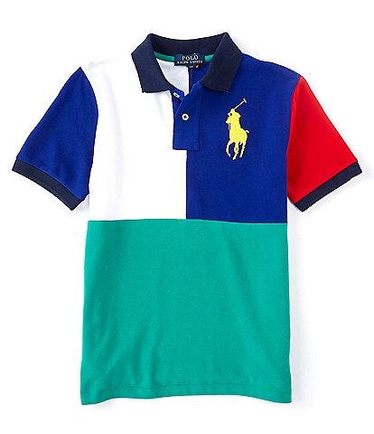 Polo Ralph Lauren Big Boys 8-20 Short-Sleeve Colorblock Mesh Polo