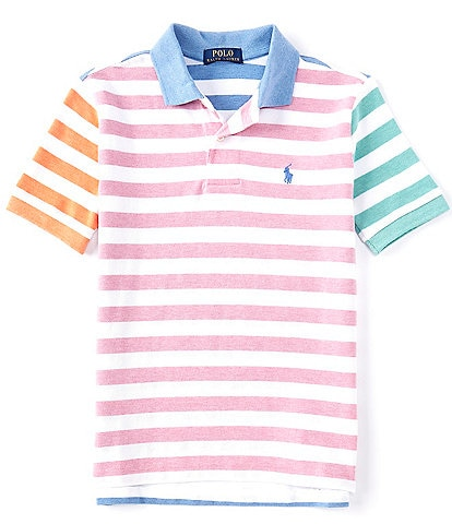 Polo Ralph Lauren Big Boys 8-20 Short-Sleeve Multi Stripe Mesh Polo