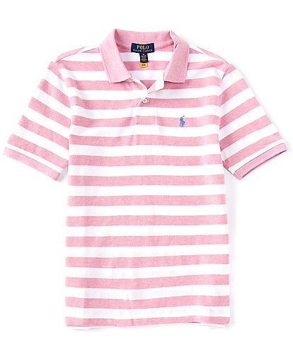 Polo Ralph Lauren Big Boys 8-20 Short-Sleeve Striped Heathered Mesh Polo Shirt