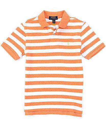Polo Ralph Lauren Big Boys 8-20 Short-Sleeve Striped Heathered Mesh Polo Shirt