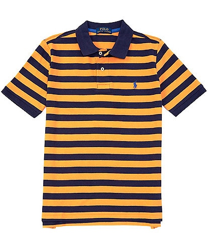Polo Ralph Lauren Big Boys 8-20 Short-Sleeve Striped Mesh Polo Shirt