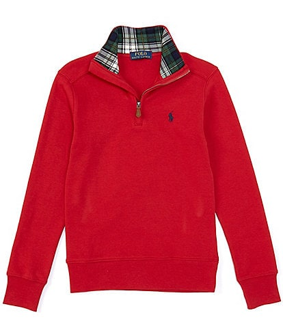 Polo Ralph Lauren Big Boys 8-20 Soft Cotton Interlock Quarter-Zip Pullover