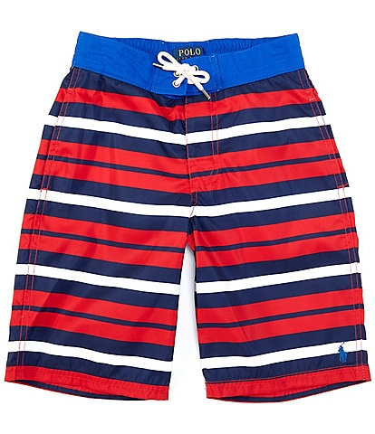 Polo Ralph Lauren Big Boys 8-20 Stripe Sanibel Swim Trunks