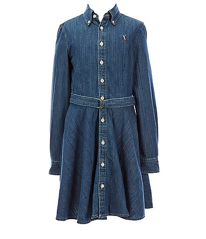 Polo Ralph Lauren Big Girls 7-16 Belted Denim Shirt Dress